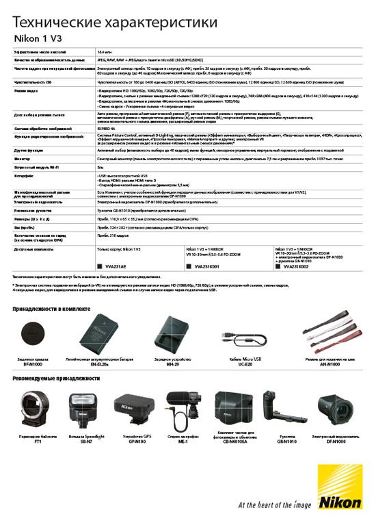 Листовка Nikon 1 v3 сторона 2